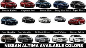 2019 Nissan Color Chart 2019 Nissan Altima Available Colors How Many Colors