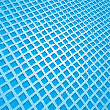 blau Mosaik-Fliesen in einem verzerrten Muster abstrakt ...