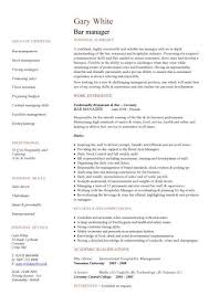 management cv template managers jobs director project  bar manager cv