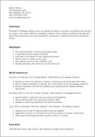 Resume Templates: Garbage Collector
