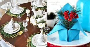 Pliages de serviettes pour une table de Noel originale! 15 idées ...