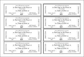 Admit One Ticket Template Free Classy Event Ticket Template Templates For Word Printable Latest Raffle