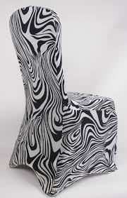 Zebra Print Chair Covers