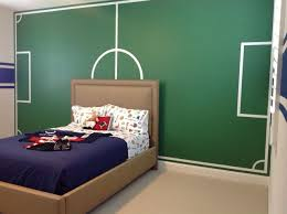 bedrooms for boys soccer. Modren Boys Boys Soccer Painted Field Sports Room To Bedrooms For S