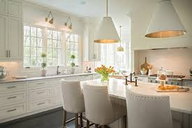 Lighting over kitchen tables Modern Timeless Kitchen With Dining Table In White Cabinet And Countertop White Chairs White Cabinet Floating Cabinet Decohoms Pendant Light Ideas Over Kitchen Sink For Suffice Lighting In