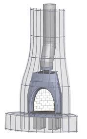 prefabricated kiva fireplace system