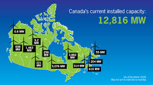 Installed Capacity Canadian Wind Energy Association