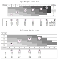 Size Charts Hosiery Box