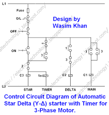 control 3 phase motor from more than two buttons power diagram 3 phase motor starting method by automatic star delta starter operation and working principle