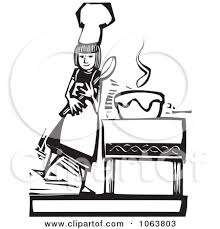 woman cooking clipart black and white.  White And Woman Cooking Clipart Black White R