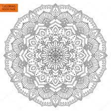 Mandala Fleur Pour Coloriages Image Vectorielle 110646402