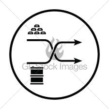 Stock Comparison Chart Gold And Oil Comparison Chart Icon Gl Stock Images