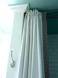 ceiling mount shower curtain rods track shower