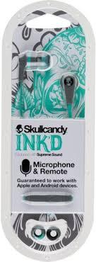 buy skullcandy sikjy inkd wired headset mic gray mint skullcandy s2ikjy528 inkd wired headset mic gray mint gray
