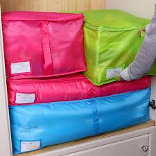 Home Storage Bag Clothes Quilt Bedding Duvet Zipped Handles ... & Home Storage Bag Clothes Quilt Bedding Duvet Zipped Handles Laundry  Polyester Pillows Storage Bag Box Adamdwight.com