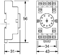 pf11ae 11 pin round socket trillium controls inc pf11ae 11 pin round socket for 703xc series of relays