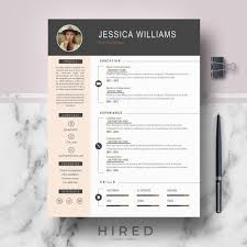 Professional Cv Template For Ms Word Pages Curriculum Etsy