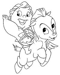 Cartoon Coloring Pages Baby Pegasus And Hercules Cartoon Coloring