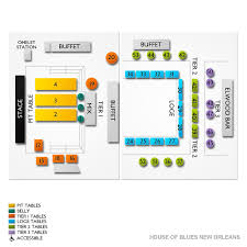 House Of Blues New Orleans Seating Chart Gospel Brunch New Orleans Tickets 12 22 2019 10 00 Am