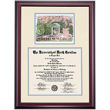 unc chapel hill tar heels diploma frame ivory carolina bl  unc chapel hill tar heels diploma frame ivory carolina bl