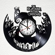You are sure to find something for every room and style! Tim Burton Jack Sally Wall Decor Nightmare Before Christmas 30cm Vinyl Record Clock