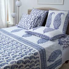 malabar multi paisley flat and fitted sheets deep blue