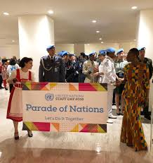 Parade Banner Design Un Staff Day Parade United Nations Police