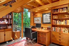 Design Home Office Layout Extraordinary Bill Point Sanctuary Rustic Home Office Seattle By Ty Evans
