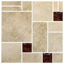 travertine brown glass mosaic kitchen backsplash tile