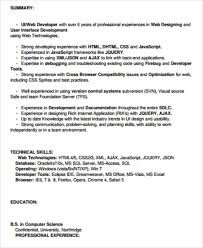 Front end developer resume summary and skills. Free 7 Sample Front End Developer Resume Templates In Ms Word Pdf