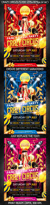 crazy circus party flyer psd template on behance