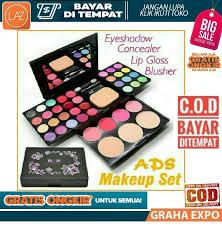 ads set lengkap 42 warna palette make up kit fashion avenue pallete eyeshadow lipstick lipstik pallette