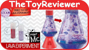 project mc2 lava lamp experiment diy craft lip gloss light unboxing toy review by thetoyreviewer