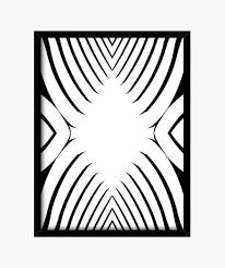 Quadro In Bianco E Nero Disegno Astratta Cornice Moderna Con Telaio