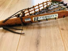 vintage wooden hattersley s lacrosse stick