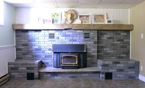 painting a fireplace whiteThe Crux  Grey Paint Wash On A Brick Fireplace Before  After