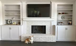 top 81 first rate brick fireplace ideas white brick fireplace with mantel black and white