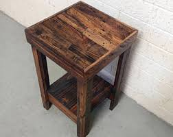 reclaimed wood furniture etsy. Provincial Reclaimed Wood Nightstand End Accent Entry Side Table Bedside Walnut Beach House Cabin Furniture Etsy L