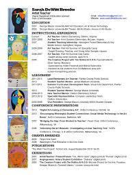 Contemporary Decoration Art Teacher Resume Bunch Ideas Of Art