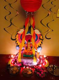 interior design creative decoration themes for ganesh festival