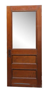 frosted glass panel wood antique door