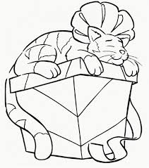 Kitty Cat Coloring Pages Fresh Christmas Cat Coloring Page Awesome