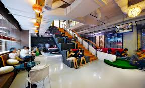coolest office design. Unique Office In Jakarta Indonesia The Offices Of Ad Agency Ogilvy U0026 Mather Turn  Ordinary Stairs Into A Work Station And Playground Slide For Coolest Office Design Business Insider