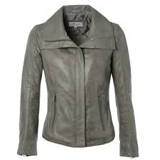 leather jacket gray elizabeth