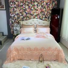 lace bedding set duvet set flat sheet pillowcase wedding silky cotton set