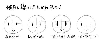 5分で上達超簡単イラストで顔のバランスをとる書き方のコツ