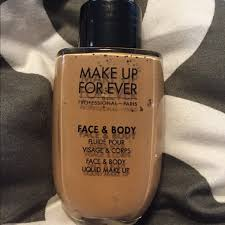 brand new makeup forever face and body foundation