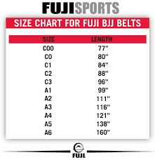 Jiu Jitsu Kimono Size Chart Fuji Bjj Adult Belt Brown