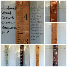 How To Mark A Wooden Growth Chart Hand Painted Wood Growth Chart Ruler Custom Colors Made In Texas