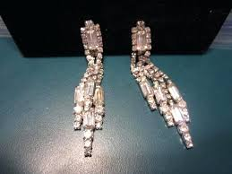 full size of clip on chandelier earrings uk vintage crystal rhinestone dangle 3 long banquette unbranded